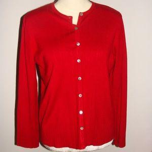 Ladies Karen Scott Cardigan Sweater
